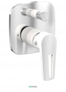 Смеситель для душа встраиваемый однорычажный Imprese Breclav белый VR-10245WZ