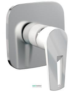 Смеситель для душа встраиваемый однорычажный Imprese Breclav белый VR-15245WZ