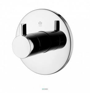 Вентиль запорный/переключающий Imprese Zamek для ванны/душа на 3 потребителя хром VR-151031