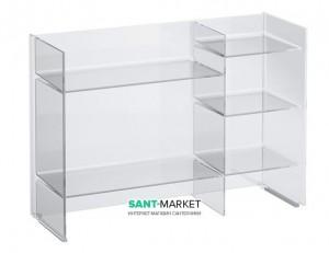 Стеллаж Laufen Kartell transparent crystal 53x75x26 H3893310840001