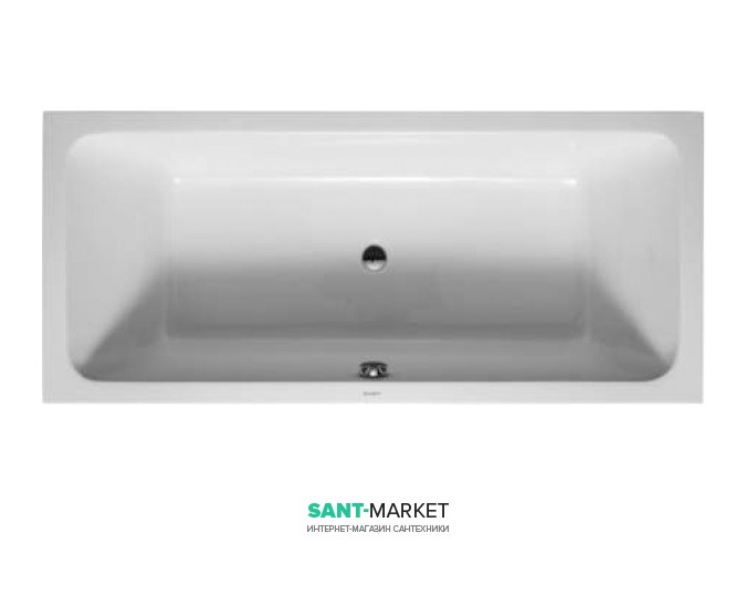 Ванна акриловая прямоугольная Duravit D-Code 170х75х46 белая 700099000000000
