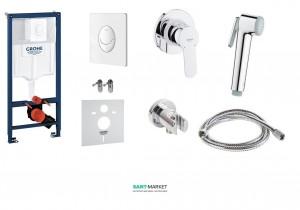Комплект инсталляционная система Grohe + набор гигиенического душа G7225120