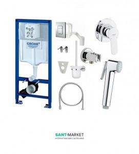 Комплект инсталляционная система Grohe Rapid SL Fresh 5в1 + набор гигиенического душа G3905120