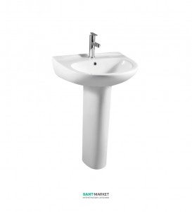 Раковина для ванной на пьедестал с пьедесталом Volle коллекция Fiesta белая 13-77-035