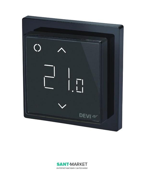 Терморегулятор для теплого пола Devi DEVIreg Smart черный 140F1143