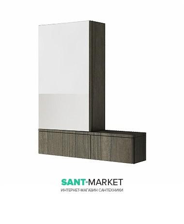 Зеркальный шкаф Kolo Nova Pro 70.8х85 левосторонний серый ясень 88441000