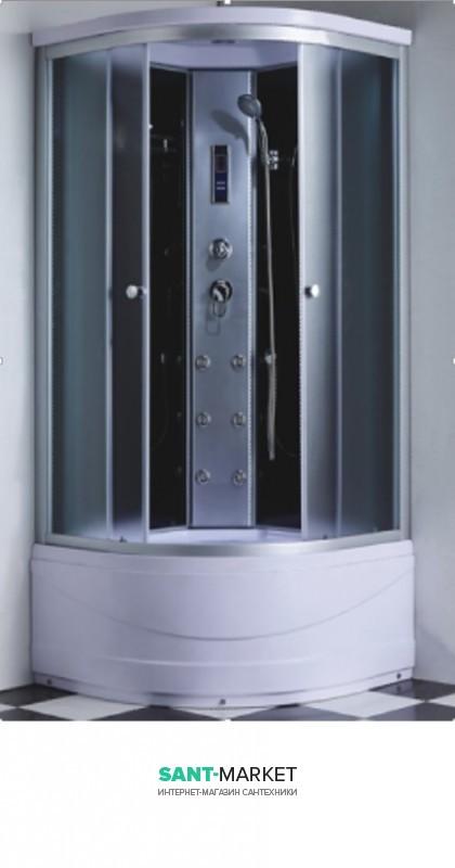 Гидробокс угловой Santeh 100x100x215 с поддоном 6907-1