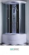 Гидробокс угловой Santeh 90x90x215 с поддоном 6907-9