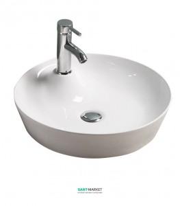 Раковина для ванной накладная Volle белая 13-01-036