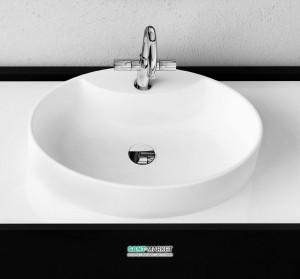 Раковина для ванной накладная Marmorin Toni белая 495 060 020 xx x