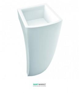 Раковина для ванной напольная Marmorin Waver белая 470 040 020 xx x