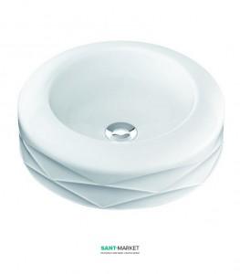 Раковина для ванной накладная Marmorin Kore белая 490 040 020 xx x