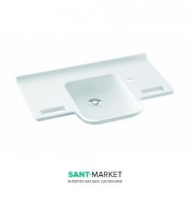 Раковина для ванной подвесная умывальник-столешница Marmorin Uni белая 550 085 022 xx x