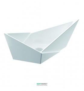 Раковина для ванной накладная Marmorin Palera белая 585 060 020 xx x