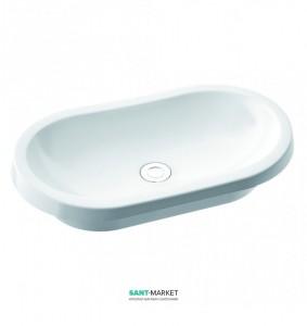Раковина для ванной накладная Marmorin Pia белая 570 060 020 xx x