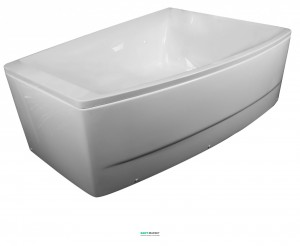 Ванна акриловая асимметричная Volle 170х120х63 белая TS-100/R