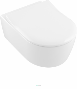 Унитаз подвесной Villeroy & Boch коллекция Avento Direct Flush с покрытием Ceramic Plus + Сиденье Soft Close, SlimSeat и QuickRelease 5656RSR1