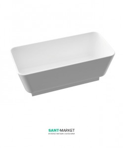Ванна каменная отдельностоящая Marmorin Balta white base 157x75x60 белая 721 160 020 xx x
