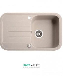Мойка для кухни прямоугольная Marmorin Pesta 1k 1o врезная, искусственный камень 170 113 0xx