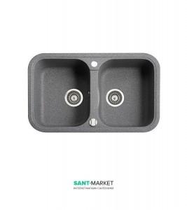 Мойка для кухни прямоугольная Marmorin Pesta 2k врезная, 2 чаши, искусственный камень 170 203 0xx