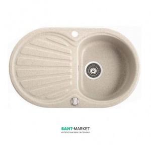 Мойка для кухни овальная Marmorin Korund 1k 1o врезная, искусственный камень 190 113 0xx