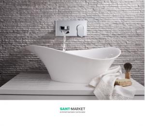 Раковина для ванной накладная Marmorin Alice белая P 550 056 020 010