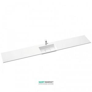 Раковина для ванной на тумбу умывальник-столешница Marmorin Lira белый 640 REG 0xx xx x
