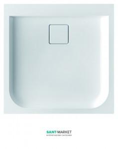 Душевой поддон из искусственного камня Marmorin Dione 90x90x10 белая 490 090 2xx
