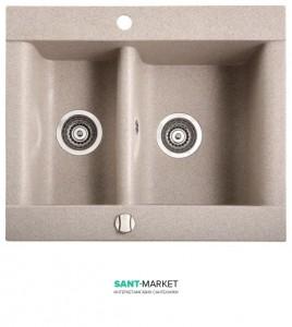 Мойка для кухни прямоугольная Marmorin Voga 1,5k врезная, 1.5 чаши, искусственный камень 110 503 0xx