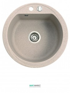 Мойка для кухни круглая Duro 1k врезная, искусственный камень 130 803 0xx