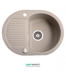 Мойка для кухни овальная Marmorin Duro 1k 0,5o оборачиваемое крыло, врезная, нержавеющая сталь 130 133 0xx