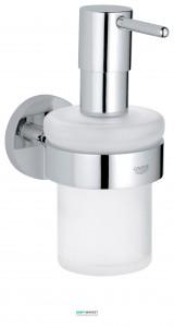 Дозатор жидкого мыла Grohe Essentials с держателем хром 40448001