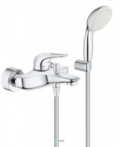 Смеситель однорычажный с душем для ванны Grohe Eurostyle New хром 3359230A