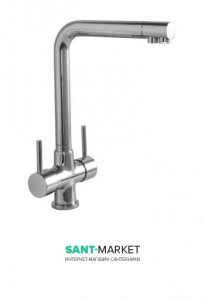 Смеситель двухрычажный для кухни Treemme под фильтр хром 5503CC