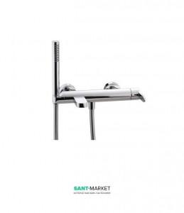Смеситель однорычажный с душем для ванны Treemme Klab bianco/chrome 2700ВС