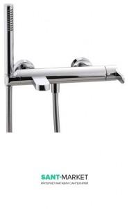 Смеситель однорычажный с душем для ванны Treemme Klab nero/chrome 2700NC