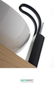 Смеситель для раковины однорычажный Treemme Philo хром/черный 7018 NC