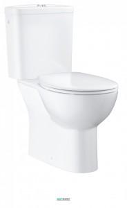 Унитаз напольный безободковый Grohe Bau Ceramic со смывным бачком и сиденьем альпин-белый 39346000