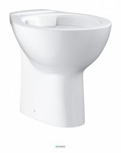 Унитаз напольный Grohe Bau Ceramic выпуск в пол альпин-белый 39431000