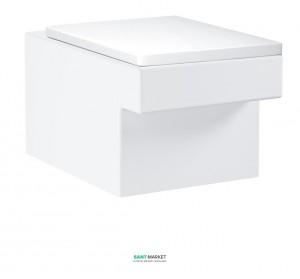 Унитаз подвесной Grohe Cube Ceramic с сиденьем Soft Close альпин-белый 39244000