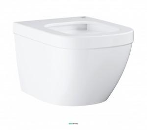 Унитаз подвесной безободковый Grohe Euro Ceramic с гигиеническим покрытием (без сиденья) альпин-белый 3920600H