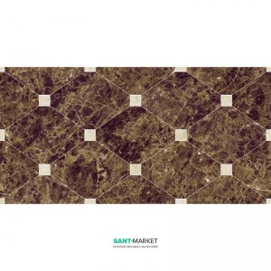 Плитка настенная Navarti Crema Marfil Natural Crown Marron 25x50