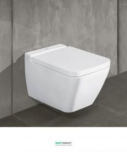 Унитаз подвесной безободковый Villeroy & Boch Finion с покрытием Ceramic Plus 4664R0R1 + сиденье 9M88S1R1