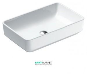 Раковина для ванной настольная Catalano Green, белая, без отверстий под смеситель 60х38 см, 160AGR00