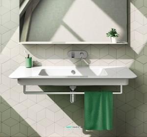 Раковина для ванной подвесная Catalano GREEN UP, белая, без отверстий под смеситель  120х52 см, 1120GRUP00