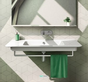 Раковина для ванной подвесная Catalano GREEN UP, белая, без отверстий под смеситель 100х52 см, 1100GRUP00