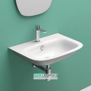 Раковина для ванной подвесная Catalano GREEN ONE, белая, 1 отв. под смеситель 55х45 см, 155GRON00