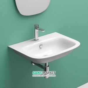 Раковина для ванной подвесная Catalano GREEN ONE, белая, 1 отв. под смеситель 45х34 см, 145GRON00