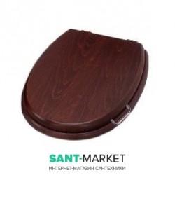 Сиденье с крышкой для унитаза Simas Lante LA008 дерево, цвет - орех, петли хром с микролифтом
