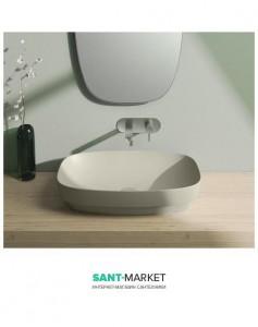 Раковина для ванной настольная или полувстраиваемая Catalano Green LUX серая матовая без отв. под смеситель 60х38 см 160AGRLXGS